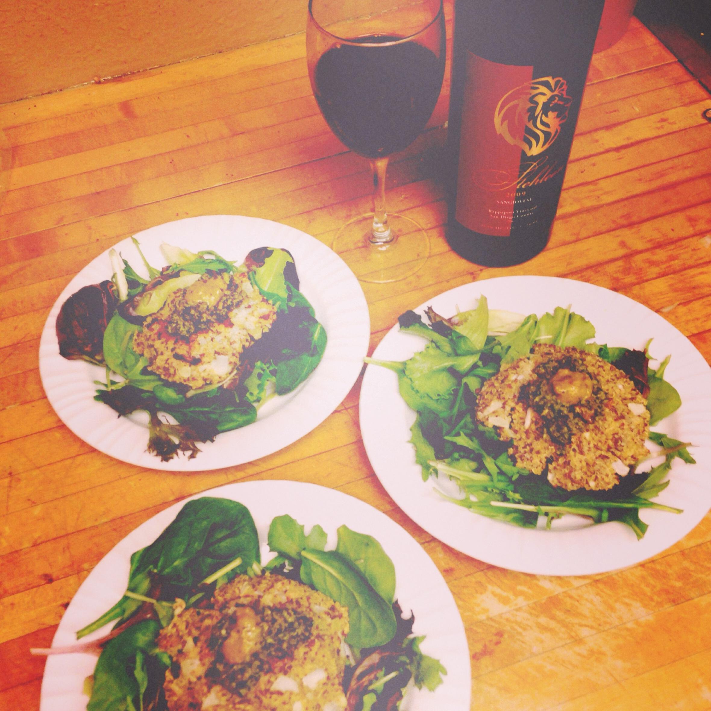 Quinoa cakes w/ basil pesto | Wellness + Wanderlust